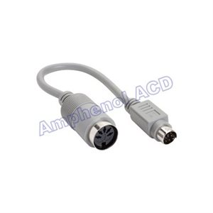 PC / AT to PS2 Keyboard Adapter Cable - Mini-DIN 6 Male to DIN5 Female (6-pin Mini-DIN to 5-pin DIN)
