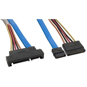 Serial ATA Extension Cable - SATA II Drive Extension Cable with Power (6.0 Gbps)