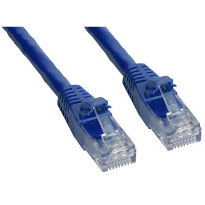Cat6 UTP Patch Cable (550-MHz) with Snagless RJ45 Connectors - Blue