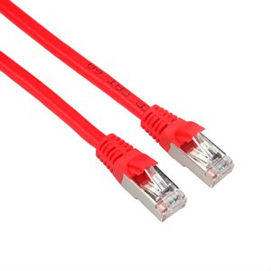 CAT6A FTP Shielded Patch Cable (650-MHz) with Snagless CAT-6A Shielded RJ45 Connectors (10GbE Optimized) - Red