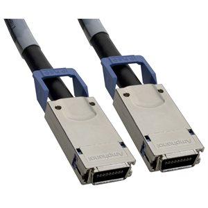 0.5m Lead-Free CX4 Cable â?? Amphenol 10GbE-CX4 10Gb Ethernet Cable w /  Fujitsu CX4 Connectors (SFF-8470 Latch)